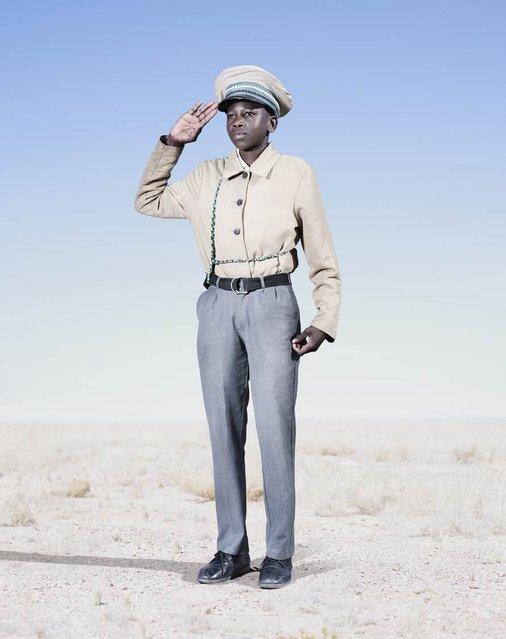 Herero Cadet Saluting, 2012. (Photo by Jim Naughten, courtesy of Klompching Gallery, New York)