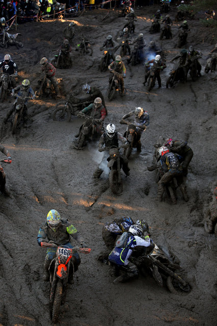Motorcycling, Gotland Grand National 2016 endure race, Gotland, Sweden on October 29, 2016. Riders compete. (Photo by Soren Andersson/Reuters/TT News Agency)