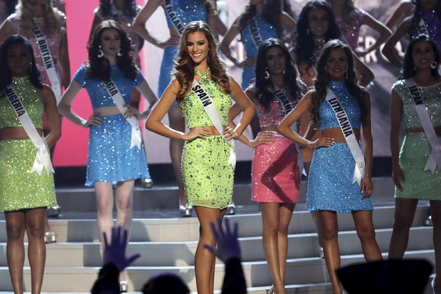 Miss Spain Desire Coredero Ferrer onstage during The 63rd Annual Miss Universe Pageant at Florida International University on January 25, 2015 in Miami, Florida. (Photo by Alexander Tamargo/Getty Images)