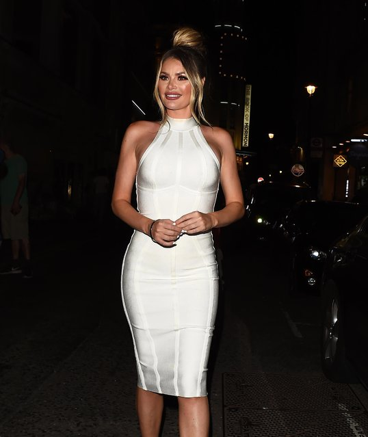 """Chloe Sims seen at """"Celebs Go Dating"""" TV show photocall at Cafe De Paris on July 24, 2018 in London, England. (Photo by Splash News and Pictures)"""