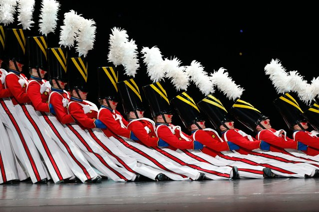 """The Rockettes performing Michael Buble's """"Christmas in New York"""" at Radio City Music Hall in New York City on October 27, 2014. (Photo by NBCU Photo Bank via Getty Images)"""