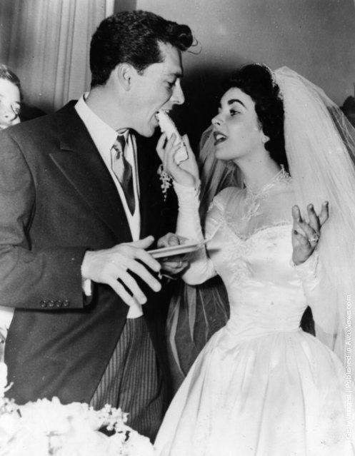 Elizabeth Taylor and her first husband Nick Hilton