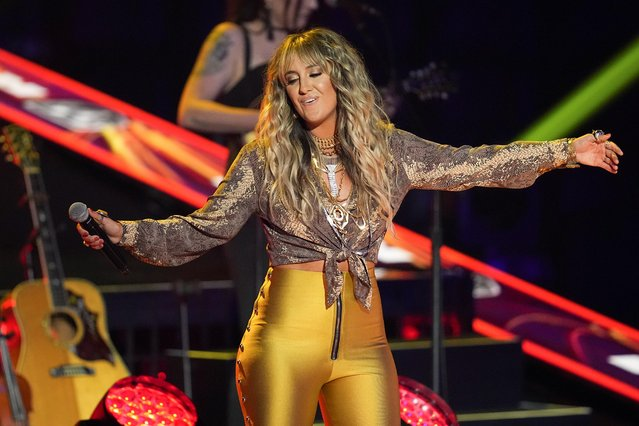 American country music artist Lainey Wilson on stage during the 2021 CMT Music Awards at Bridgestone Arena in Nashville, Tennessee, U.S. June 9, 2021. (Photo by Harrison McClary/Reuters)