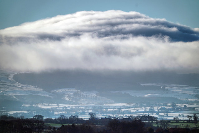 Orographic clouds above the Pennines as viewed from Bishop Auckland, County Durham, United Kingdom on December 31, 2020. (Photo by Owen Humphreys/PA Images via Getty Images)