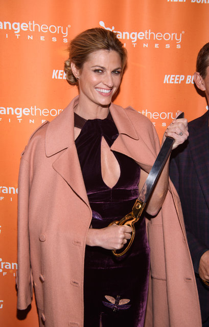 Erin Andrews arrives at the Orangetheory Fitness VIP Grand Opening Party at Orangetheory Fitness Astor Place on January 10, 2017 in New York City. (Photo by Dave Kotinsky/Getty Images)