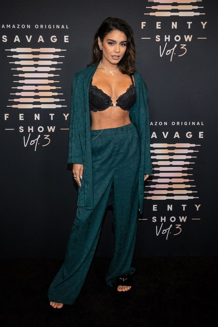 In this image released on September 22, American actress and singer Vanessa Hudgens attends Rihanna's Savage X Fenty Show Vol. 3 presented by Amazon Prime Video at The Westin Bonaventure Hotel & Suites in Los Angeles, California; and broadcast on September 24, 2021. (Photo by Emma McIntyre/Getty Images for Rihanna's Savage X Fenty Show Vol. 3 Presented by Amazon Prime Video)