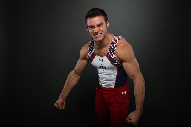 Gymnast Sam Mikulak poses for a portrait at the U.S. Olympic Committee Media Summit in Beverly Hills, Los Angeles, California March 7, 2016. (Photo by Lucy Nicholson/Reuters)
