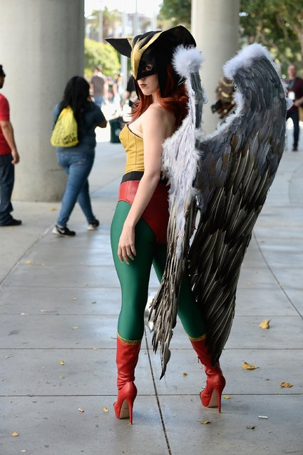 Attendees engage in cosplay and wearing costumes during WonderCon 2016 Day 2  at Los Angeles Convention Center on March 25, 2016 in Los Angeles, California. (Photo by Frazer Harrison/Getty Images)