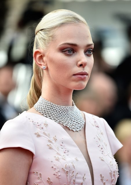 """Model Tanya Dziahileva attends the opening ceremony and premiere of """"La Tete Haute"""" (Standing Tall) during the 68th annual Cannes Film Festival on May 13, 2015 in Cannes, France. (Photo by Pascal Le Segretain/Getty Images)"""
