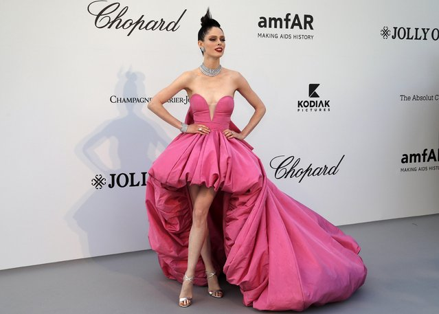 Coco Rocha poses for photographers upon arrival at the amfAR, Cinema Against AIDS, benefit at the Hotel du Cap-Eden-Roc, during the 72nd international Cannes film festival, in Cap d'Antibes, southern France, Thursday, May 23, 2019. (Photo by Eric Gaillard/Reuters)