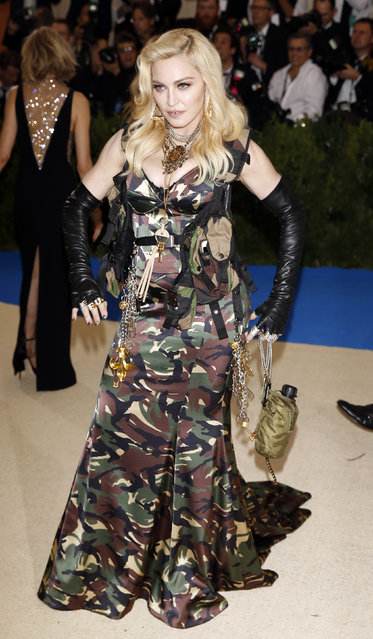 """Madonna attends """"Rei Kawakubo/Comme des Garcons: Art Of The In-Between"""" Costume Institute Gala – Arrivals at Metropolitan Museum of Art on May 1, 2017 in New York City. (Photo by Carlo Allegri/Reuters)"""