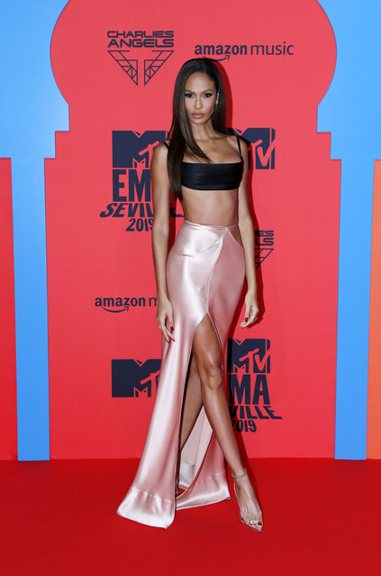 Joan Smalls attends the MTV EMAs 2019 at FIBES Conference and Exhibition Centre on November 03, 2019 in Seville, Spain. (Photo by Europa Press Entertainment/Europa Press via Getty Images)