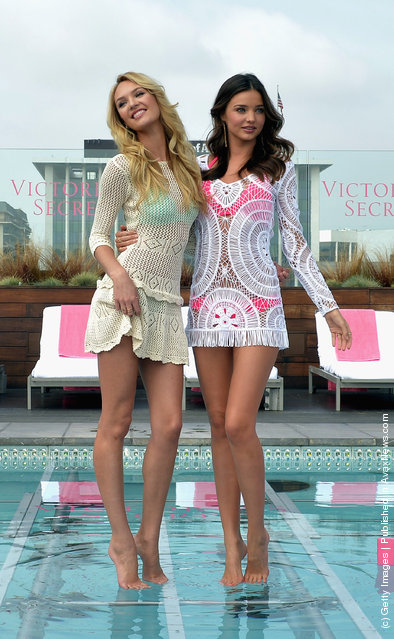Victoria's Secret Angels Candice Swanepoel and Miranda Kerr Launch The 2012 VS Swim Collection