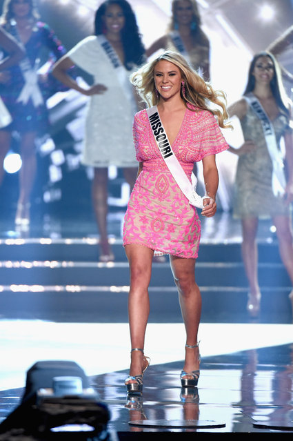 Miss Missouri USA 2016 Sydnee Stottlemyre is named a top 15 finalist during the 2016 Miss USA pageant at T-Mobile Arena on June 5, 2016 in Las Vegas, Nevada. (Photo by Ethan Miller/Getty Images)