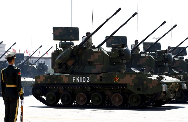 Armored fighting vehicles are presented during the military parade marking the 70th anniversary of the end of World War Two, in Beijing, China, September 3, 2015. (Photo by Rolex Dela Pena/Reuters)
