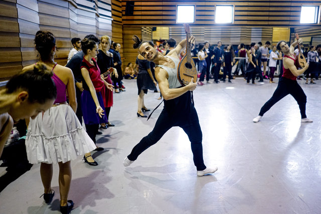 In this Tuesday, September 12, 2017 photo, dancers rehearse for Romeo and Juliet in Montevideo, Uruguay. Uruguay's National ballet of the Sodre has bloomed under the helm of Julio Bocca since he took over in 2010. (Photo by Matilde Campodonico/AP Photo)