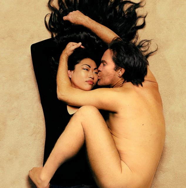 "John Malkovich is seen as John Lennon in a re-creation of the 1980 portrait of John and Yoko taken by Annie Leibovitz. Sandro says, ""We had 14-16 hour days on set, and full rehearsals beforehand. We had it down to a science. I knew that John only had 3 days available, so we set a schedule of 7 to 8 shots a day"". (Photo by Sandro Miller/Catherine Edelman Gallery)"