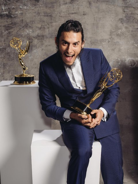 Richard Cabral poses for a portrait at the Television Academy's 67th Emmy Awards Performers Nominee Reception at the Pacific Design Center on Saturday, September 19, 2015 in West Hollywood, Calif. (Photo by Casey Curry/Invision for the Television Academy/AP Images)