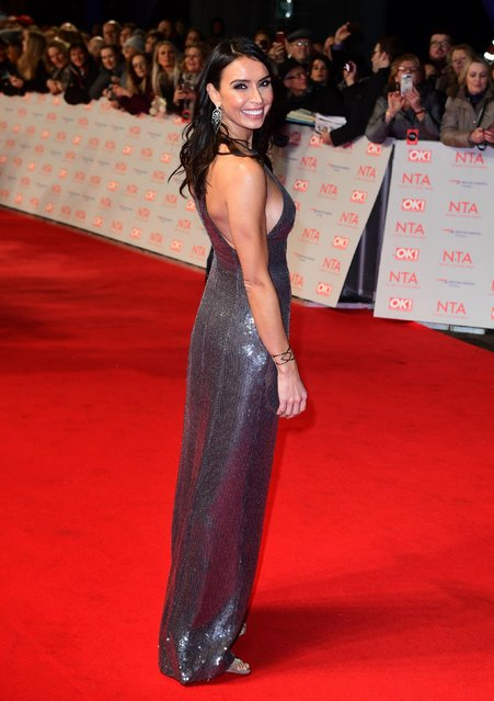 Christine Lampard attends the National Television Awards 2018 at the O2 Arena on January 23, 2018 in London, England. (Photo by PA Wire)