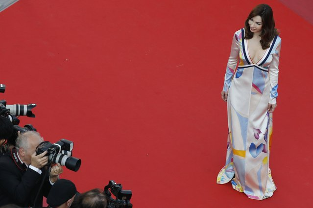 """Alix Benezech arrives for the screening of the film """"Ash is Purest White (Jiang hu er nv)"""" at the 71st Cannes Film Festival in southern France that ends May 19. (Photo by Jean-Paul Pelissier/Reuters)"""