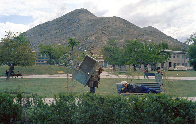 Activity in a city park in Kabul, on May 28, 1968. (Photo by James Martenhoff/AP Photo via The Atlantic)