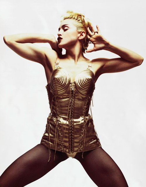 Madonna's iconic gold corset from 1988. (Photo by M+B Gallery and the artist)