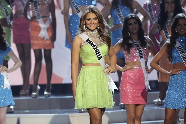 Miss Venezuela Migbelis Castellanos onstage during The 63rd Annual Miss Universe Pageant at Florida International University on January 25, 2015 in Miami, Florida. (Photo by Alexander Tamargo/Getty Images)