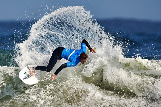 Jordan Lawler of Australia competes during the third day of the Pantin Classic Galicia Pro at Pantin beach on August 30, 2018 in A Coruna, Spain. (Photo by Quality Sport Images/Getty Images)