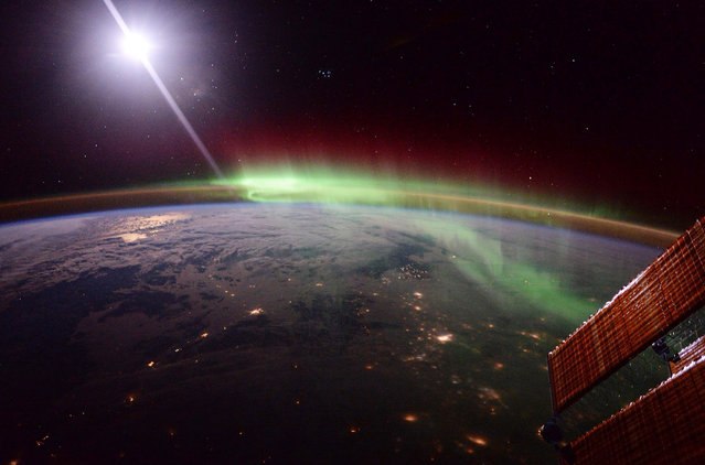 In this handout image supplied by the European Space Agency (ESA), A photo of an aurora taken by ESA astronaut Tim Peake from on board the International Space Station, January 20, 2016. Expedition 46-47 crewmembers ESA astronaut Tim Peake, NASA astronaut Tim Kopra and Russian cosmonaut commander Yuri Malenchenko were welcomed aboard the International Space Station by Russian cosmonauts Mikhail Korniyenko and Oleg Kononenko, and NASA astronaut Scott Kelly for a six-month mission, as part of Expedition 46. (Photo by Tim Peake/ESA via Getty Images)