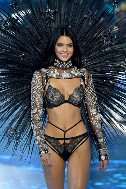Kendall Jenner walks the runway during the 2018 Victoria's Secret Fashion Show at Pier 94 on November 8, 2018 in New York City. (Photo by Kevin Mazur/WireImage)