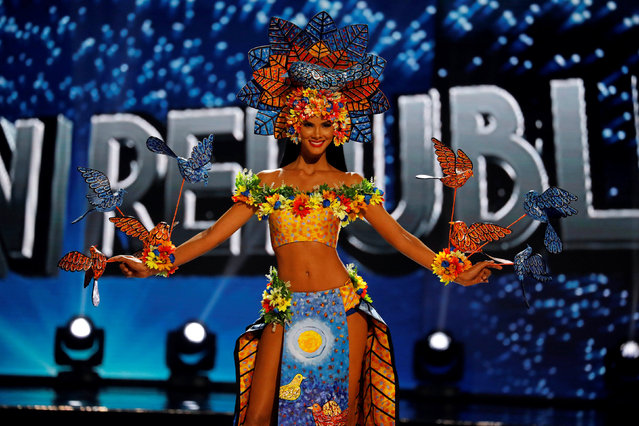 Miss Universe candidate from Dominican Republic Sal Garcia competes during a national costume preliminary competition in Pasay, Metro Manila, Philippines January 26, 2017. (Photo by Erik De Castro/Reuters)