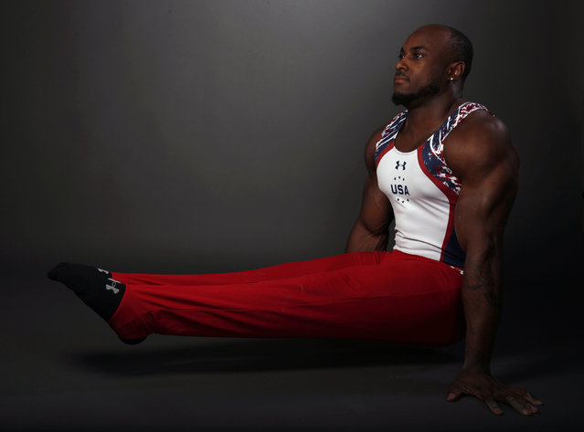 "Gymnast Donnell Whittenburg poses for a portrait at the U.S. Olympic Committee Media Summit in Beverly Hills, Los Angeles, California March 7, 2016. Whittenburg said he is listening to ""Jumpman"" by Drake while he trains at the moment. (Photo by Lucy Nicholson/Reuters)"