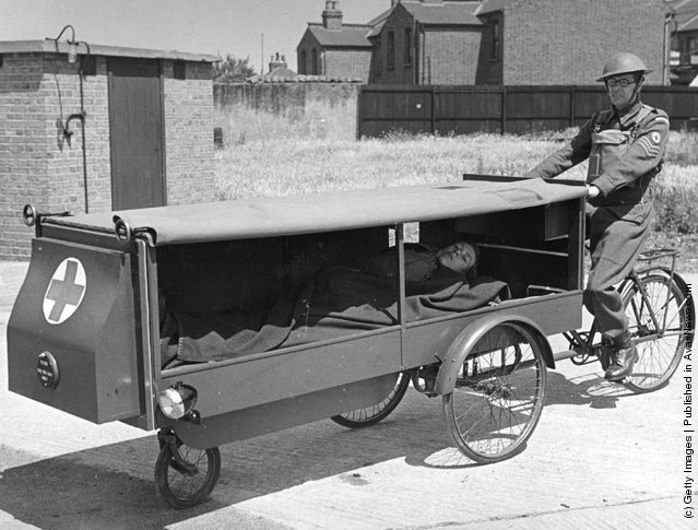 A one-man anti-gas ambulance and resuscitator, designed and made for use by the Home Guard