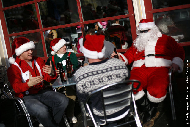 Annual SantaCon Held In New York City