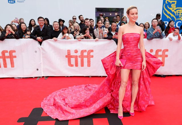 "US actress Brie Larson arrives for the premiere of ""Just Mercy"" at the Roy Thomson Hall during the 2019 Toronto International Film Festival Day 2, on September 6, 2019, in Toronto, Ontario. (Photo by Mario Anzuoni/Reuters)"