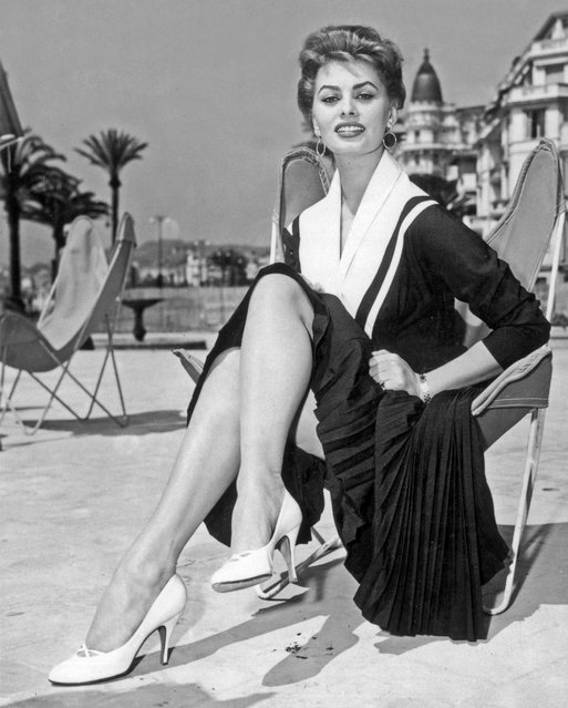 Italian actress Sophia Loren attends the Cannes Film Festival in Cannes, France, 1954. (Photo by AGIP/RDA/Getty Images)