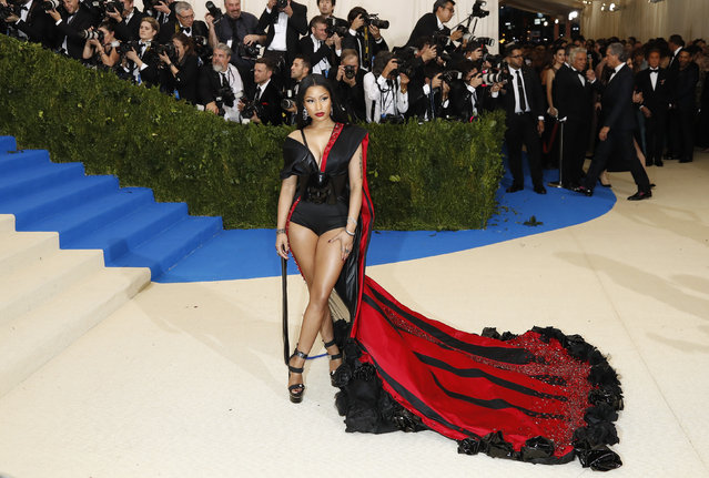 """Nicki Minaj attends """"Rei Kawakubo/Comme des Garcons: Art Of The In-Between"""" Costume Institute Gala – Arrivals at Metropolitan Museum of Art on May 1, 2017 in New York City. (Photo by Lucas Jackson/Reuters)"""
