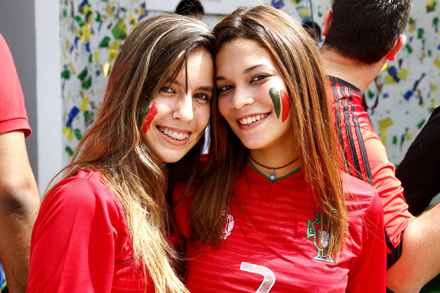 Fans arrive for the Group G match between Germany and  Portugal during the 2014 FIFA World Cup Brazil at Arena Fonte Nova on June 16, 2014 in Salvador, Bahia, Brazil. (Photo by Felipe Oliveira/ FIFA via Getty Images)