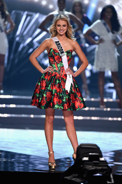 Miss Arizona USA 2016 Chelsea Myers is named a top 15 finalist during the 2016 Miss USA pageant at T-Mobile Arena on June 5, 2016 in Las Vegas, Nevada. (Photo by Ethan Miller/Getty Images)