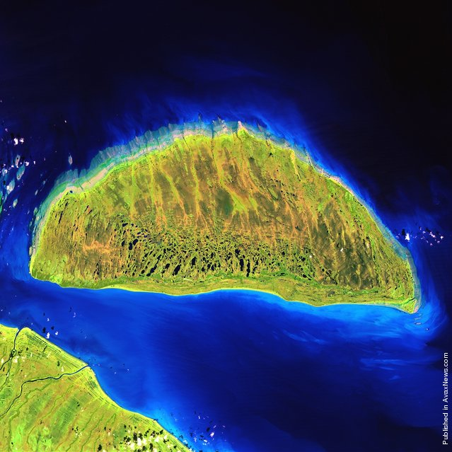 During the last ice age, Akimiski Island in Canada's James Bay lay beneath vast glaciers that pressed down with immense force