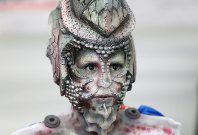 """A model is seen during the """"World Bodypainting Festival 2017"""" in Klagenfurt, Austria on July 28, 2017. (Photo by Leonhard Foeger/Reuters)"""