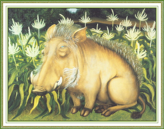 Basil Warthog. Artwork by Beryl Cook