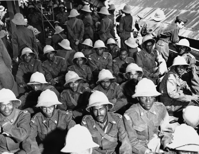 The first contingent of Ethiopian troops are shown shortly after their arrival in Korea on May 9, 1951 where they will serve with United Nations Force. (Photo by AP Photo)