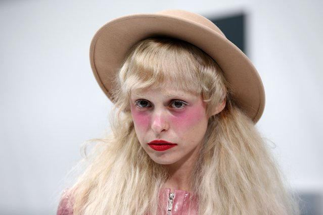 French singer Petite Meller poses before attending the Spring/Summer 2016 women's ready-to-wear collection for fashion house Chanel in Paris, France, October 6, 2015. (Photo by Charles Platiau/Reuters)
