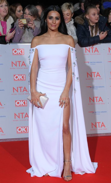 Sair Khan attends the National Television Awards 2018 at the O2 Arena on January 23, 2018 in London, England. (Photo by David Fisher/Rex Features/Shutterstock)
