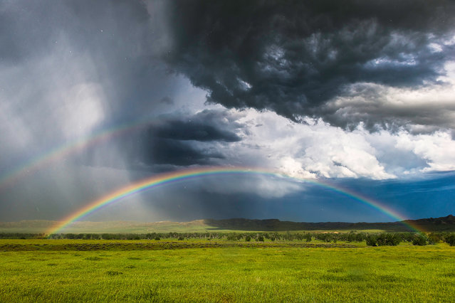 A photographer has weathered some of Americas most violent storms to capture these stunning snaps. (Photo by Caters News)