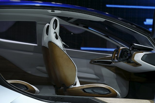 The interior of the Nissan IDS concept car is seen at the 44th Tokyo Motor Show in Tokyo October 28, 2015. (Photo by Thomas Peter/Reuters)