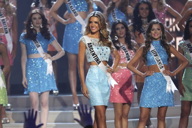 Miss Argentina Valentina Ferrer onstage during The 63rd Annual Miss Universe Pageant at Florida International University on January 25, 2015 in Miami, Florida. (Photo by Alexander Tamargo/Getty Images)