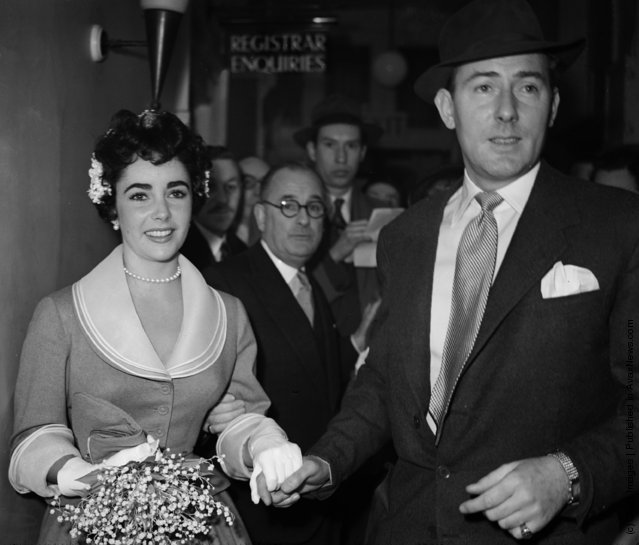 Elizabeth Taylor with Michael Wilding
