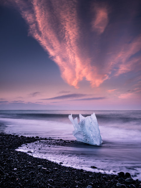 """Clash of Elements"". Jökulsárlón, Iceland. (Photo and caption by Andreas Wonisch)"